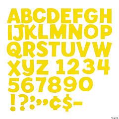 Yellow Bulletin Board Letters