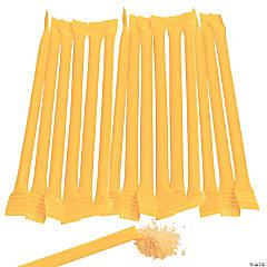 Yellow Candy-Filled Straws