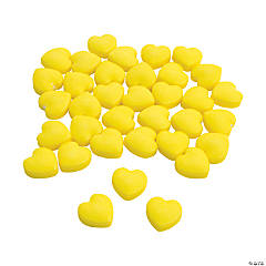 Yellow Candy Hearts