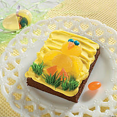 Yellow Chick Easter Brownie Recipe