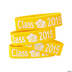 Yellow Class of 2015 Big Band Bracelets