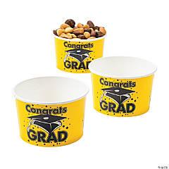 Yellow Congrats Grad Snack Bowls