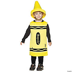 Yellow Crayola Toddler Kid's Costume