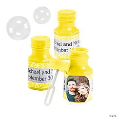 Yellow Custom Photo Hexagon Bubble Bottles