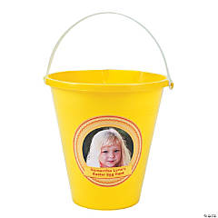 Yellow Custom Photo Sand Buckets