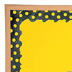 Yellow Dots on Chalkboard Bulletin Board Border