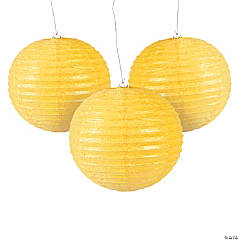 Yellow Glitter Lanterns