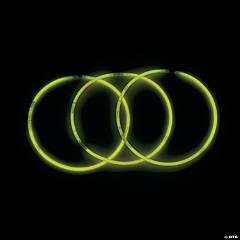 Yellow Glow Plastic Necklaces