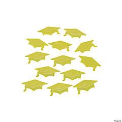 Yellow Graduation Cap Confetti
