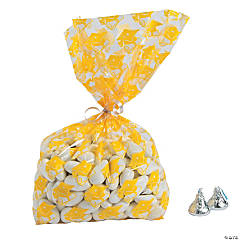 Yellow Graduation Cellophane Bags
