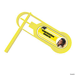 Yellow Graduation Custom Photo Giant Noisemakers