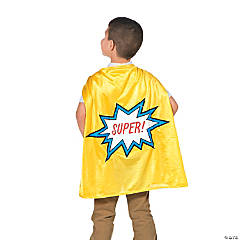 Yellow Graduation Superhero Cape