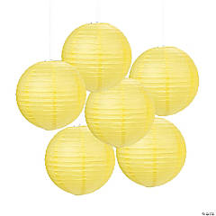 Yellow Hanging Paper Lanterns