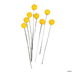 Yellow Lampwork Headpins