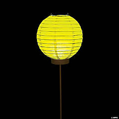 Yellow Light-Up Paper Lantern Balloons