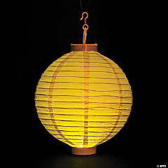 Yellow Light-Up Paper Lanterns