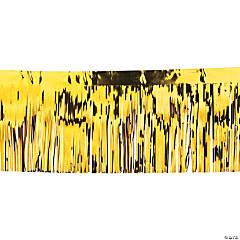 Yellow Metallic Float Fringe