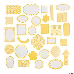 Yellow Monochromatic Die Cut Shapes