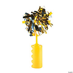 Yellow Noisemaker Rattles with Pom