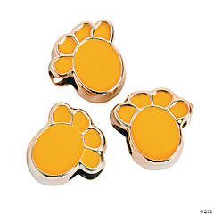 Yellow Paw Beads-13mm