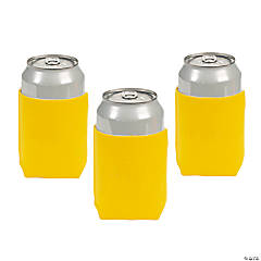Yellow Personalized Can Coolers