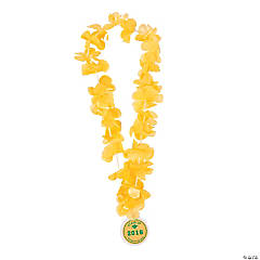 Yellow Personalized Graduation Leis