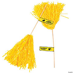Yellow Personalized Graduation Spirit Poms