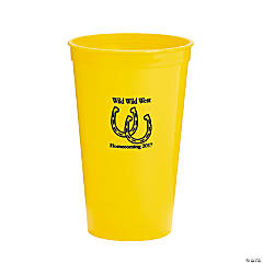 Yellow Personalized Horseshoe Tumblers