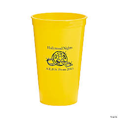 Yellow Personalized Movie Night Tumblers