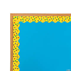Yellow Polka Dot Bulletin Board Borders with Scalloped Edge