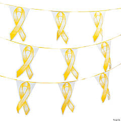 Yellow Ribbon Plastic Pennant Banner