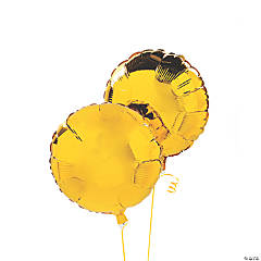 Yellow Round Mylar Balloon Set