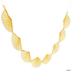 Yellow Semi Fanburst Garland