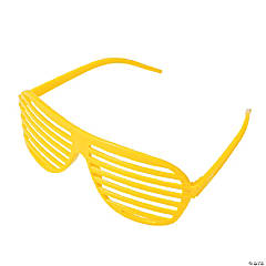 Yellow Shutter Glasses - 12 Pc.