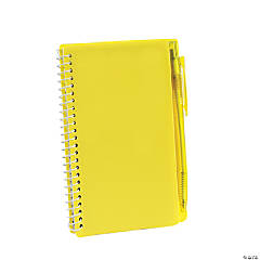 Yellow Spiral Notebooks with Pens