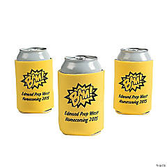 Yellow Superhero Personalized Can Coolers