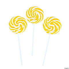 Yellow Swirl Lollipops