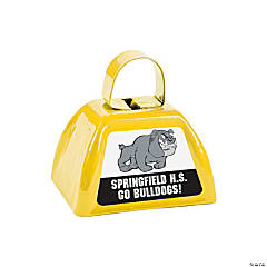 Yellow Team Spirit Custom Photo Cowbells