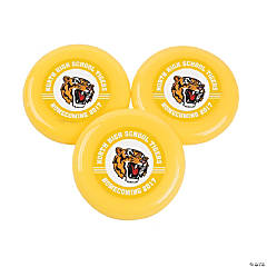 Yellow Team Spirit Custom Photo Mini Flying Disks