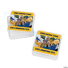Yellow Team Spirit Custom Photo Square Containers