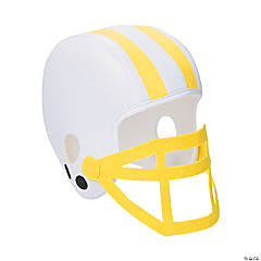 Yellow Team Spirit Football Helmet