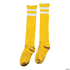 Yellow Team Spirit Knee-High Socks