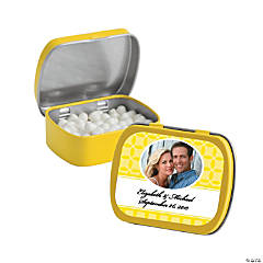 Yellow Wedding Design Custom Photo Mint Tins