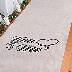 You & Me Wedding Aisle Runner