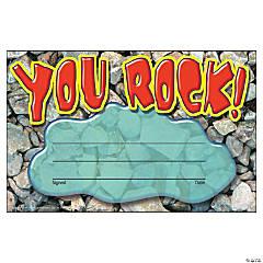 You Rock! Award Certificate - 30 pr pack, 12 packs