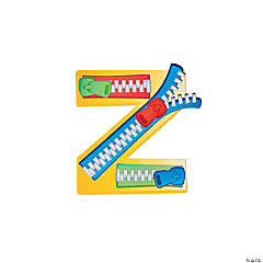 """Z Is For Zipper"" Lowercase Letter Z Craft Kit"