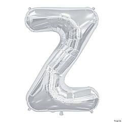 Z Silver Letter Mylar Balloon