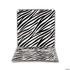 Zebra Paper Dinner Plates