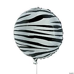 Zebra Print Mylar Balloons