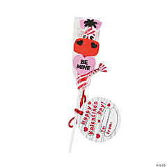 Zebra Valentine Twisty Pop Butterfly Craft Kit